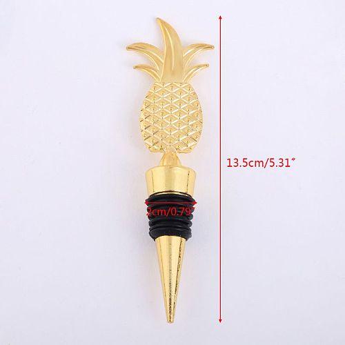 New Elegant Pineapple Champagne Red Wine Bottle Stopper Vacuum Sealed Twist Valentine's Wedding Favors Gift