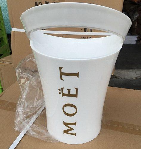 European Fashion Red Wine Ice Bucket 3L White Acrylic Plastic Ice Bucket Party Wine Bottle Cabinet