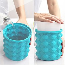 Silicone Ice Bucket Champagne Whisky Beer Ice Cube Maker Portable Bucket Wine Ice Cooler Beer Kitchen Tools Kitchen Tool Buckets