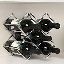 Metal Geometric Bar Storage Wine Rack Drink Whiskey Display Holder Detachable Home Kitchen Bar Wine Rack Shelf Organizer