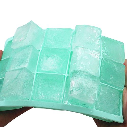 1PC 15-grid Silicone Cubes Non-toxic Ice Cubes Square Tray Mold Mould Durable Bar Pub Wine Ice Cubes Trays Molds Accessories