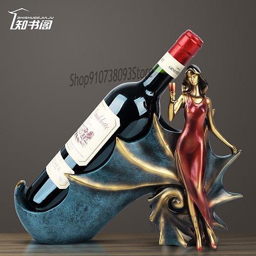 European Style Red Wine Shelf Decoration Wine Cabinet Decoration Home Wine Wine Bottle Shelf Tv Cabinet Personality