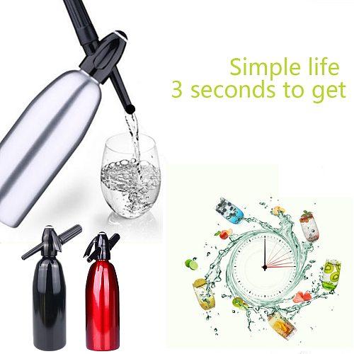 DIY 1000ml Soda Water Siphon Home Drink Juice Machine Bar Beer Syphon Maker Steel Bottle Foam Cylinders Co2 Injector
