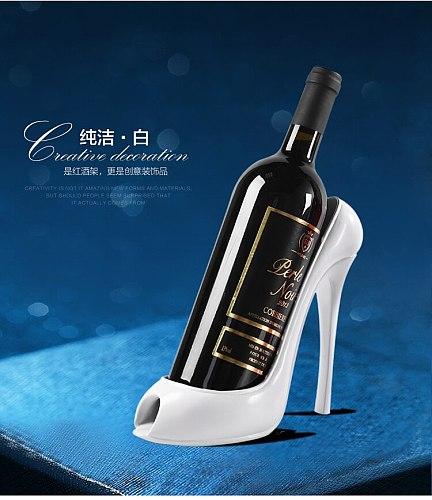 NEWYEARNEW High Heels Creative Design Wine Rack Holder Originality Home Decoration Wine Lounge Valentine Wedding Gift