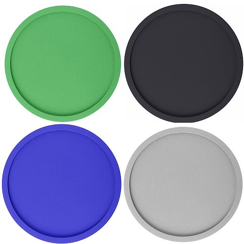 Silicone Cup Coasters Round Soft Wine Glasses Insulation Non-slip Black Coasters for House Bar Home Tools