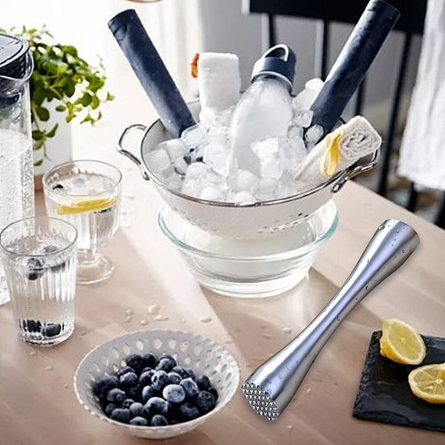 Cocktail Muddler Stainless Steel Bar Mixer Bar, Utensils And Accessories Mojito Cocktail DIY Fruit Juice Muddler Crushed Ice Bar