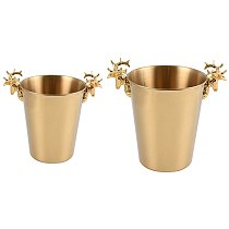 Ice Champagne Bucket Deer Head Wine Chiller Bottle Ice Barrel Cooler Champagne Beer Cold Water Ice Container