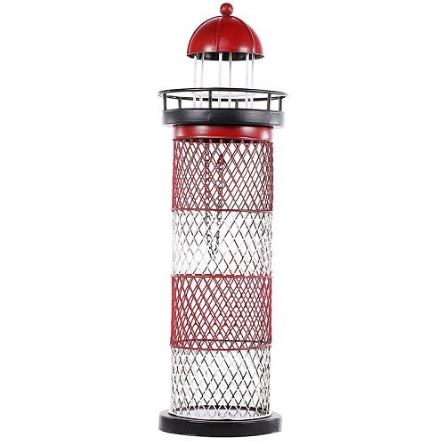 Wine Holder Lighthouse Wine Rack Wine Holder Wine Bottle Shelf Metal Sculpture Practical Craft for Home Decoration