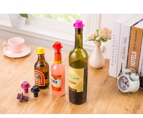 5pcs/lot Silicone Bowler Bottle Stopper Wine Stopper Wine Accessories Champagne Plug Small Hat Beer Red Wine LB 273