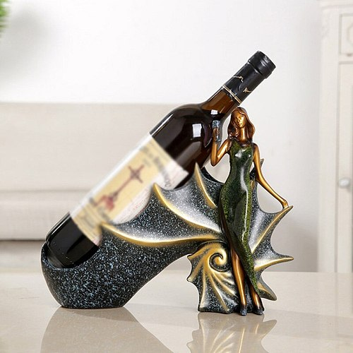 Wine Rack Wine Holder Shelf Resin Practical Sculpture Wine stand Home Decoration Interior Crafts Christmas Gift