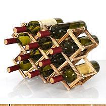 Folding Solid  Wooden Red Wine Holder Rack Home Kitchen Bar Storage Display Shelf Organizer  Bottle Wine  Retro Display Cabinet