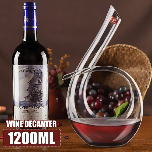 1200ML 6 Shape Decanter Handmade Crystal Red Wine Brandy Champagne Glasses Decanter Bottle Jug Pourer Aerator For Family Bar