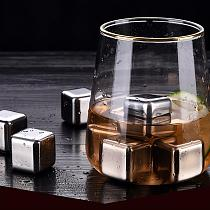 1pc / 6pcs / 8Pcs Whisky Stones Ice Cubes Set Reusable Food Grade Stainless Steel Wine Cooling Cube Chilling Rock Party Bar Tool