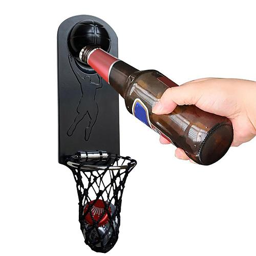 Basketball Bottle Opener Magnetic Metal Wall Bottle Opener Refrigerator Sticker For Bar Home Can Wine Beer Opener Kitchen Tools
