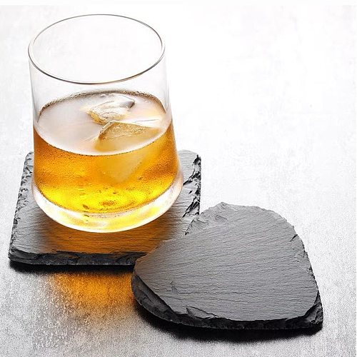 1PC Natural Rock Wine Coaster Steak Plate Place Mat Cake Dessert Tray Sushi Plate Kitchen Bar Table Place Mat Feature Heat Pad
