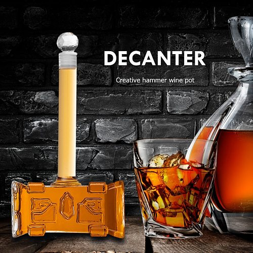 400ml Creative Wine Decanter Champagne Glasses Decanter Bottle Hammer-shaped Red Wine Aerator for Bar Accessories
