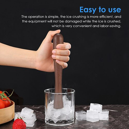 Crushed Ice Set Wood Ice Mallet Hammer Ice Chipper Crusher Bartender Kit Bar Tools Kitchen Accessories