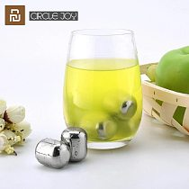 Xiaomi Circle Joy Ice Block 304 Stainless Steel Washable Block Reusable Use For Wine Juice and Various drinks