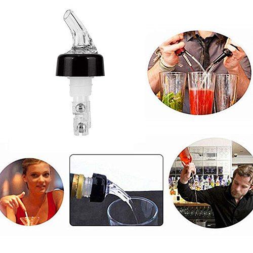 10Pcs 30ml Plastic Liquor Pourer Olive Oil Wine Bottle Pour Spout Plug Stopper Cork Wine Dispenser Leakproof Bar Supplies