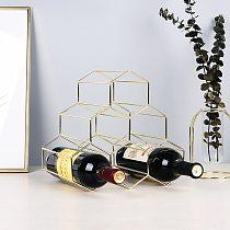 1Pc Simple Geometric Wine Rack Household Bottle Cabinet Stand Holder Restaurant Bar Grape Display Shelf