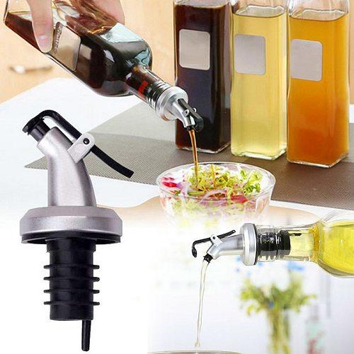 1PC Oil Bottle Stopper ABS Lock Plug Seal Leak-proof Food Grade Plastic Wine Pourers Kitchen Accessories Bar Tools Dropship