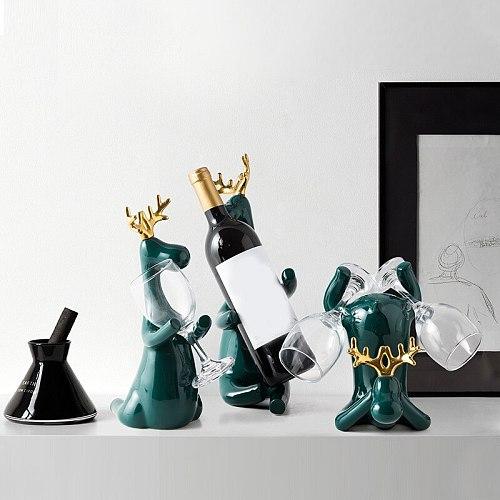 New Creative Wine Rack Statue Bottle Holder Stand Simple Ceramics Craft Home Wine Rack Decoration Декор Для Дома Qp2