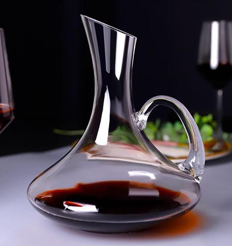 Big Decanter Handmade Crystal Red Wine Brandy Champagne Glasses Decanter Bottle Jug Pourer Aerator For Family Bar
