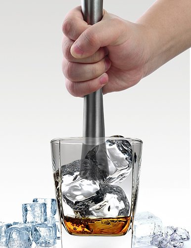 New Listed Cocktail Muddler Stainless Steel Bar Mixer Bar Utensils Accessoriess Cocktail DIY Fruits Juice Crushed Ice Bars 1pcs