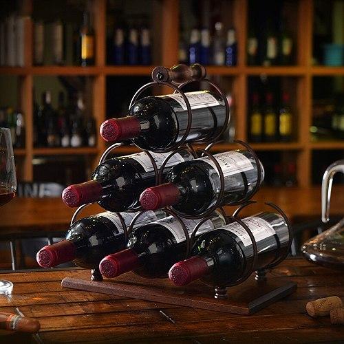 Stacked ring wine rack iron restaurant decoration wine rack stacked wine rack wine bottle storage rack home decoration