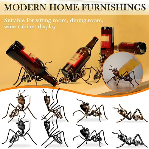 Creative Small Wine Rack Ant Wine Rack Beer Cocktail Decoration Living Room Home Bar Kitchen Storage Organizer Simple #GT2