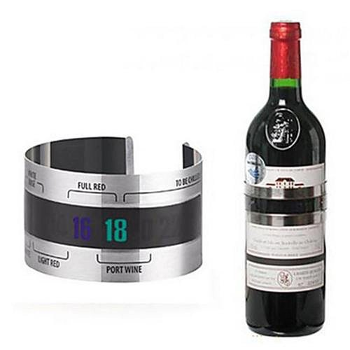 2021 Wine Collar Thermometer Bar Beverage Tool Clever Wine Bottle Snap Thermometer Lcd Display Clip For Champagne Beer