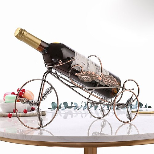 Leaf Tricycle Red Wine Rack Holder