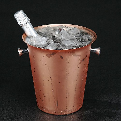 Stainless Steel Ice Bucket 5L Plated Rose Gold Champagne Bucket Copper Plated Ice Bar  Champagne Buckets