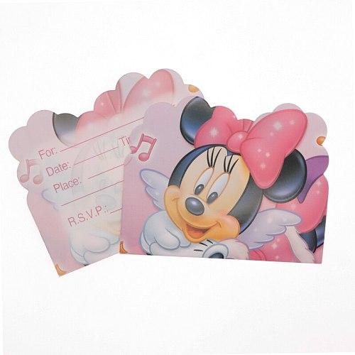 Pink Cartoon Mickey Minnie Birthday Wedding Party Decoration Supplies Disposable Cup Saucer Tissue Straws Children Shower Party