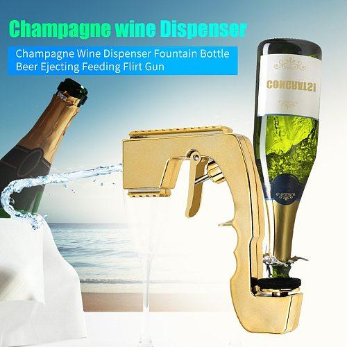 Bottle Cap Wine Stopper Foaming Beer Jet Champagne Wine Dispenser Bottle Beer Ejector Champagne Gun Beer Spray Gun Bar Tools