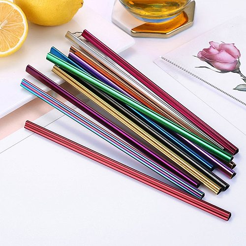 1PC Heart-shaped Metal Straw Reusable Straw Milk Tea Stainless Steel Drinking Straw Eco-Friendly Pink Straw For Mugs Wholesale