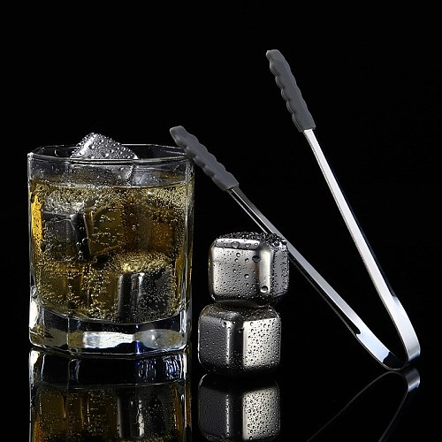 Stainless Steel Reusable Ice Cubes Frozen Ice Blocks Maker Whiskey Ice Cube Maker Useful Wine Beer Cooler Hookah Accessories
