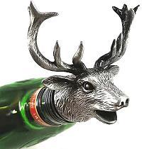 Deer Head Wine Pourer  Deer Head Wine Guide Pour Wine Stopper Zinc Alloy Bartender Tool Wines Accessories