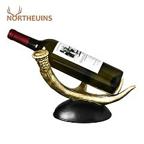 NORTHEUINS Resin Wine Rack Figurines Creative Stand for Bottle Storage Holder for Wine Shelf for Wine Home Decoration Accessorie
