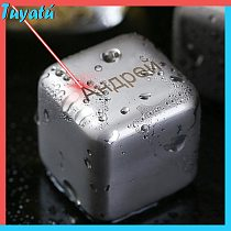 Personalized Stainless Steel Ice Cubes Whiskey Stones for Whisky Gift Whiskey Jade Wine Champagne Engrave Name Ice Bucket