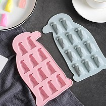 2Pcs Multipurpose Practical Lovely Reusable Durable Ice Cube Trays Chocolate Molds for Kitchen Bar