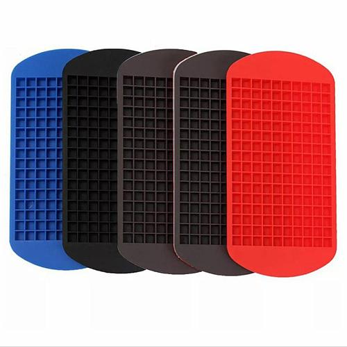 160 Grids Durable Silicone Square Ice Tray Cake Chocolate Jelly Mold Lightweight DIY Baking Tool Easy To Use