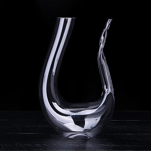 Creative Home Wine Decanter European Style Glass Hip Flask Wineware Lead Free Crystal Quick Decanter Bar Restaurant Utensils