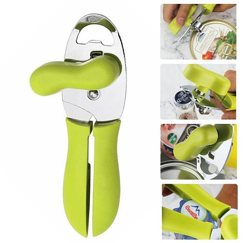 Stainless Steel 4 In 1 Multifunction Corkscrew Home Party Restaurant Store Can Opener Canning Opening Tool Kitchen Accessories