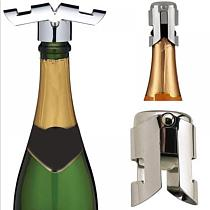 Stainless Steel Beer Bottle Opener Vacuum Sealed Sparkling Champagne Wine Bottle Saver Stopper Cap Bottle Opener for Bar Tool