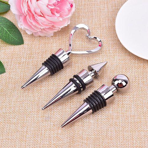 1 Piece Bottle Stopper Heart Shaped Red Wine Champagne Wine Bottle Stopper Wedding Gifts Bottle Cover Kitchen Accessories