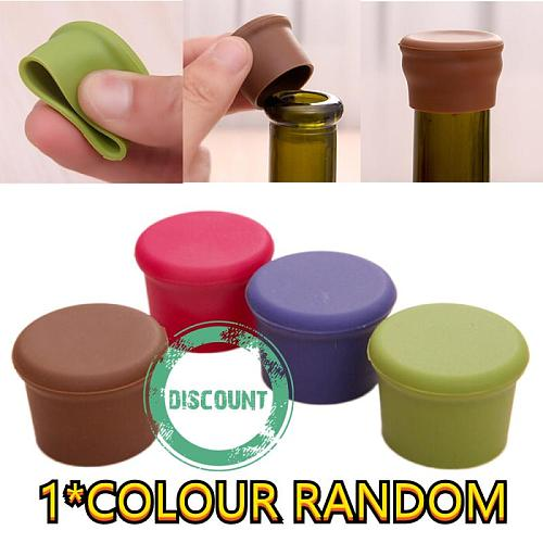 Silicone Bottle Caps Beer Wine Oil Water Soda Fresh Saver Stopper Kitchen Tool For Storing Up The Fresh Liquid Cut Off The Air