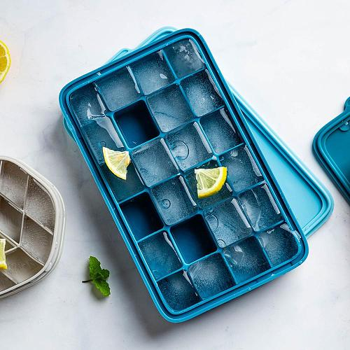MDZF Silicone Ice Mold With Lid Ice Cream Party Whiskey Cocktail Cold Drink Honeycomb Ice Cube Tray Home Bar Party DIY Moulds