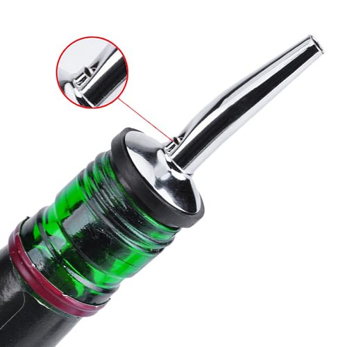1pcs Stainless Steel Wine Bottle Stopper Olive Oil Wine Liquor Flow Disfuser Leak-proof Wine Pour Spout Dispenser Barware
