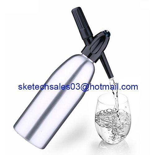 Free Shipping Soda Siphon 1.0L Home Made Soda Dispenser Aluminum Soda Water Machine Soda Maker